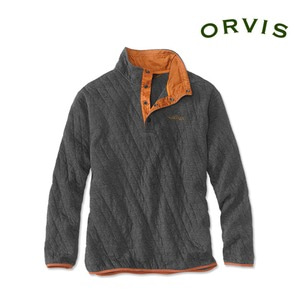 [ORVIS] Men's Trout Bum Quilted Snap Sweatshirt