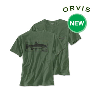 [ORVIS] Brook Trout Stamp Short-Sleeved Pocket T-Shirt