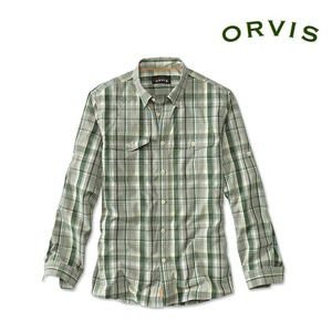 [ORVIS] Long-Sleeved Plaid Clearwater Wicking Shirt