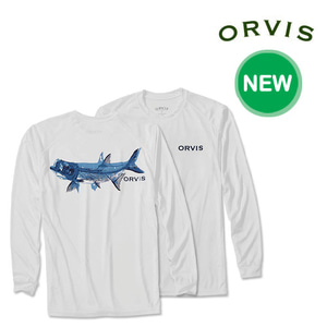 [ORVIS] PAGE TARPON BONES LONG-SLEEVED TECH T-SHIRT