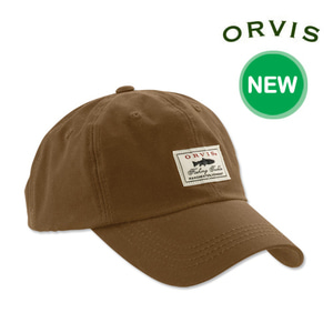 [ORVIS] Vintage Waxed-Cotton Ball Cap 오비스 송어모자